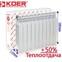 Биметаллический радиатор KOER 500/120мм ЧЕХИЯ